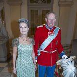 La condesa de Rosenborg con un vestido verde agua