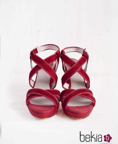 Sandalias Liu rojas de la colección primavera/verano 2015 de Barbarella