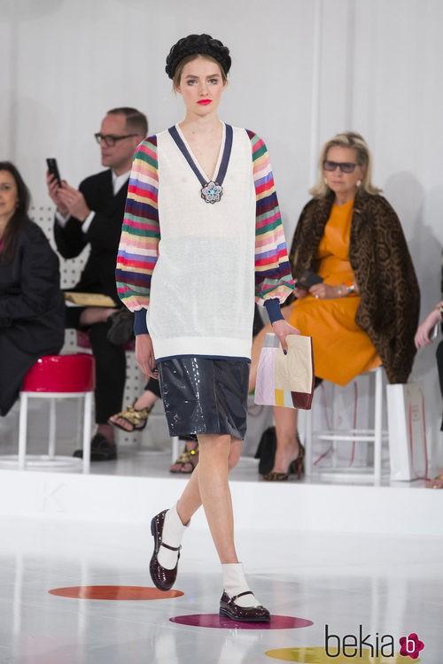 Falda y camiseta 'oversize' de la colección Crucero 2015/2016 de Chanel