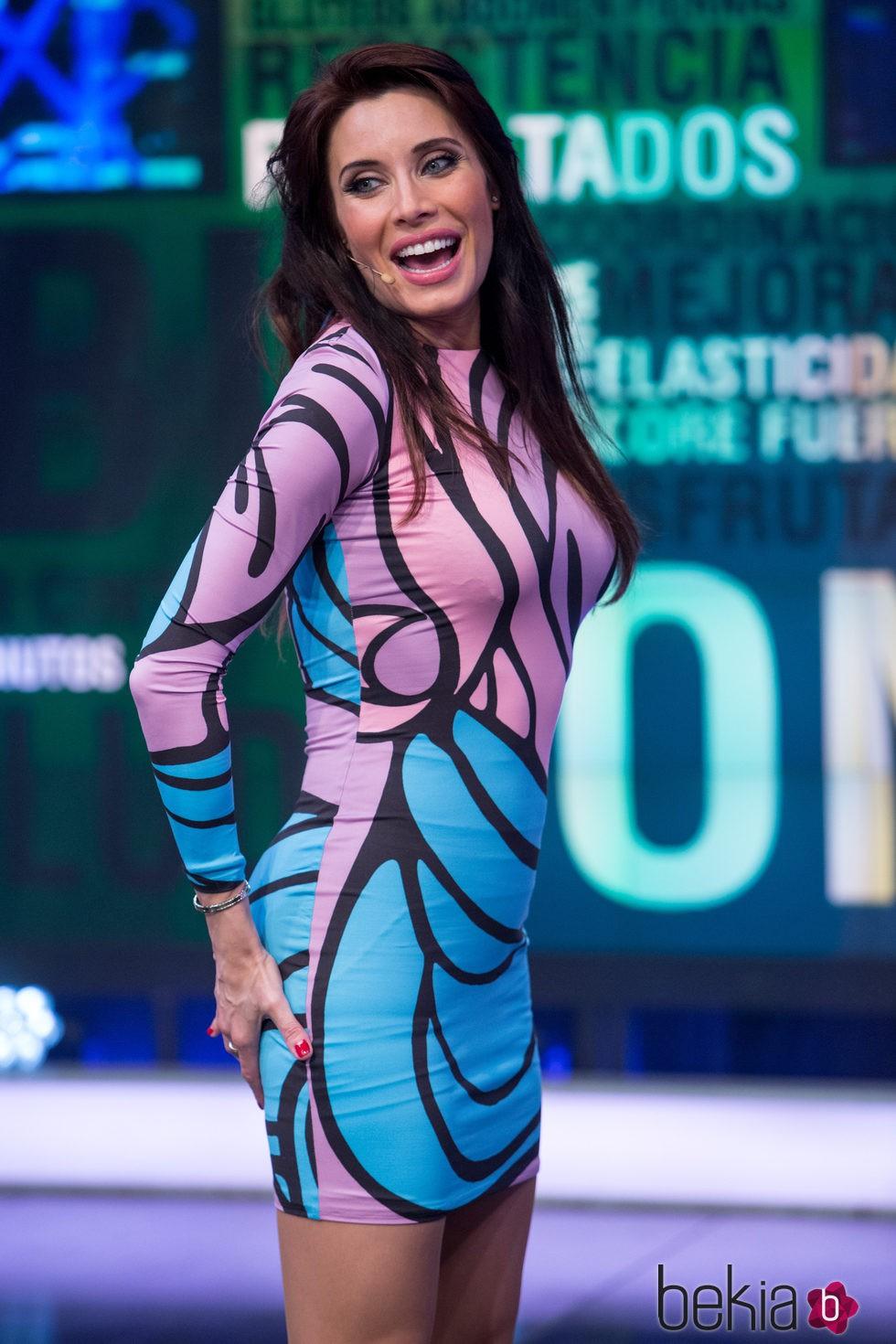 Pilar Rubio con un vestido de María Escoté tras anunciar su segundo embarazo