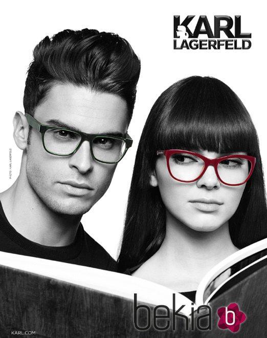 Kendall Jenner y Baptiste Giabiconi, imagen de la nueva colección de gafas de Karl Lagerfeld