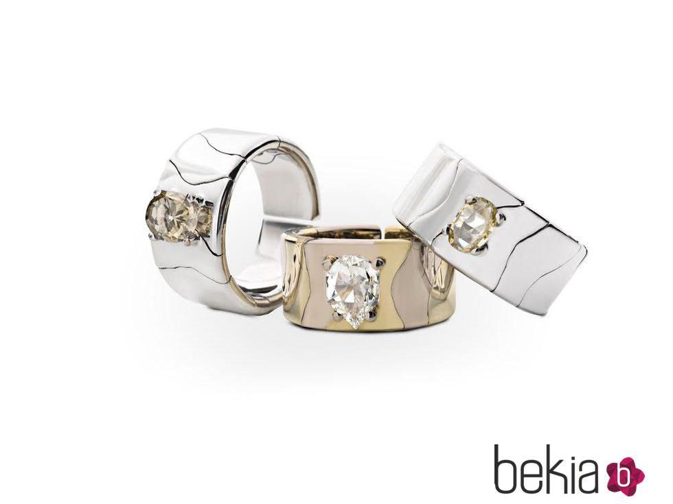 Anillos en plata y oro de la colección de joyas para novias 2015 de Victor Caparros