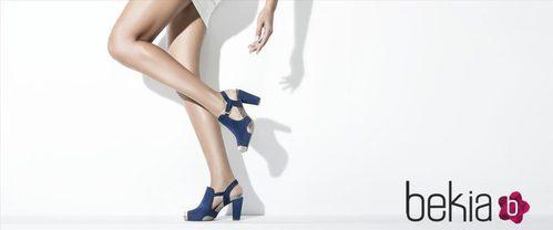 Zapatos 'peep toe' de la colección primavera/verano 2015 de Gadea