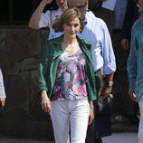 La Reina Letizia con un look casual en El Salvador