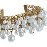 Brazalete con perlas de la colección 'White & Gold' de Claire's
