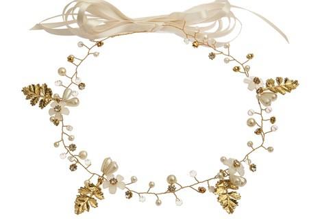 Corona de hojas doradas de la colección 'White & Gold' de Claire's