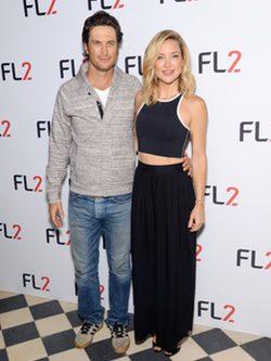 Kate y Oliver Hudson en la presentación de la línea deportiva para hombres 'FL2'