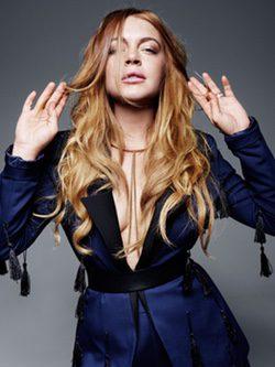 Lindsay Lohan con un mono de borlas de la colección de verano de Lavish Alice