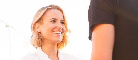 Ana Fernández durante la grabación del Fashion Film de Oxygene