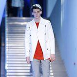 Abrigo blanco de la colección primavera/verano 2016 de Z Zegna