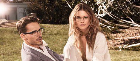 Behati Prinsloo y Arthur Kulkov, imagen de la colección Eyewear verano 2015 de Tommy Hilfiger