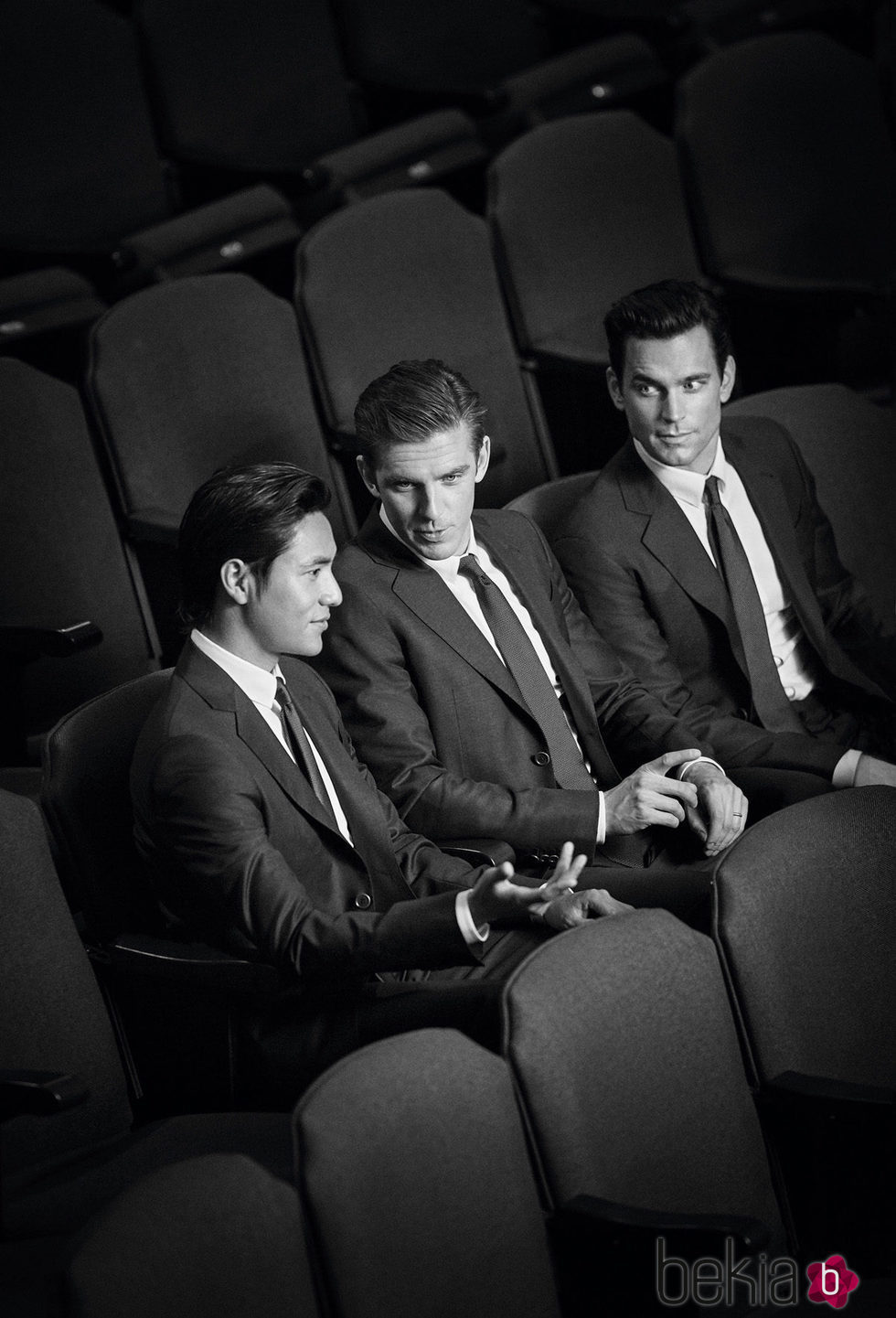 Chen Kun, Dan Stevens y Matt Bomer en la campaña de Armani 'Trajes hechos a medida'