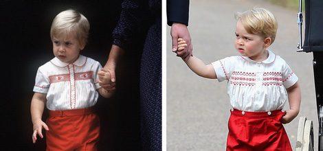 Jorge de Cambridge con un conjunto muy parecido al de su padre el Príncipe Guillermo de Inglaterra