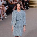 Look tweed de la colección de Alta Costura otoño/invierno 2015/2016 de Chanel
