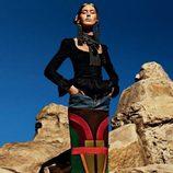Ondria Hardin con falda de tubo de la colección otoño/invierno 2015/2016 de Tom Ford
