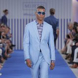 Traje azul celeste con camisa estampada para hombre de la colección primavera/verano 2015 de Mirto