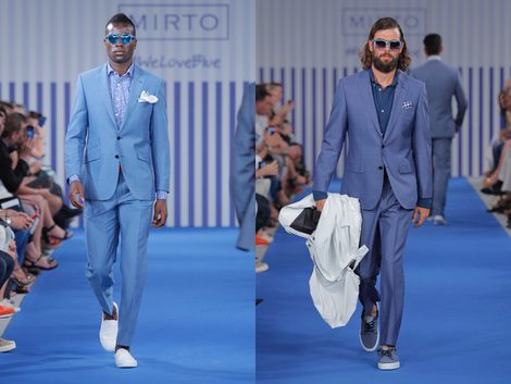 Traje azul claro para hombre de la colección primavera/verano 2015 de Mirto