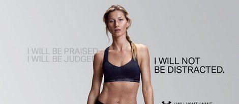 Gisele Bundchen posando para la campaña otoño 2015 de Under Armour