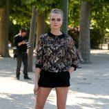 Cara Delevingne promocionando 'Ciudades de papel' en París