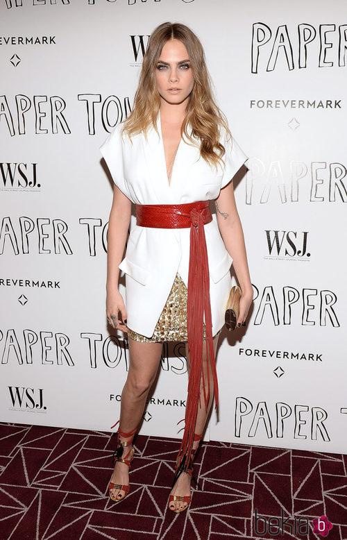 Cara Delevingne en la premiere de 'Ciudades de papel' en Los Angeles