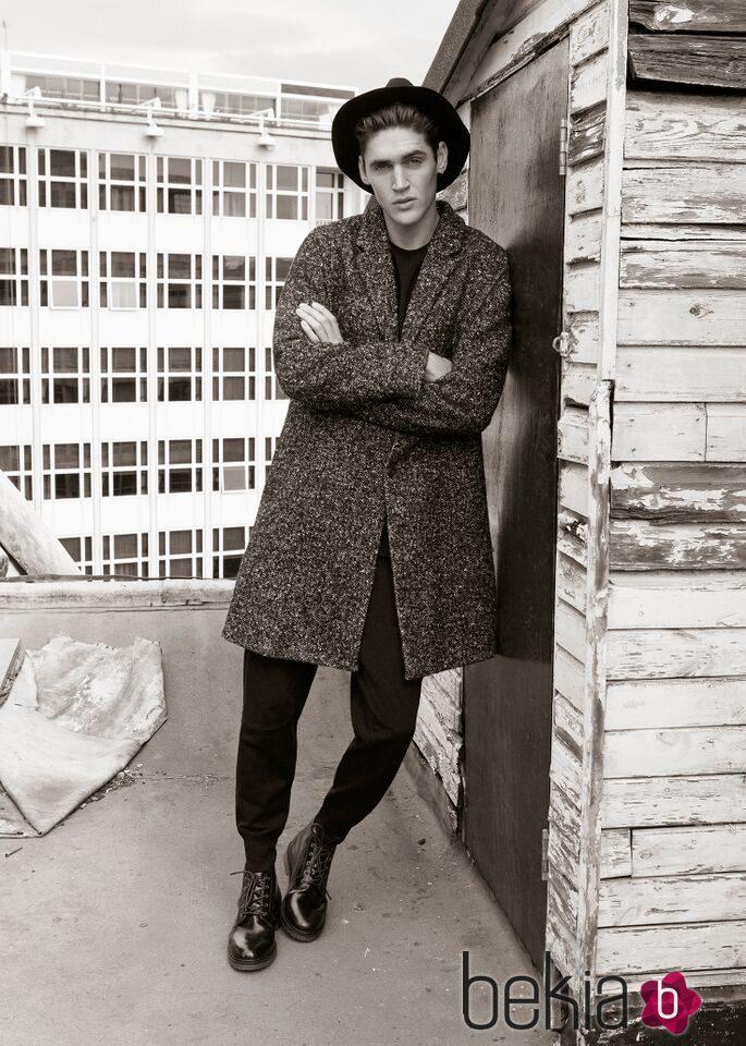 Isaac Carew, imagen de la colección otoño/invierno 2015/2016 'Black Label' de Pull&Bear