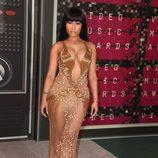 Nicki Minaj con un vestido dorado de Labourjoisie en los MTV VMA 2015
