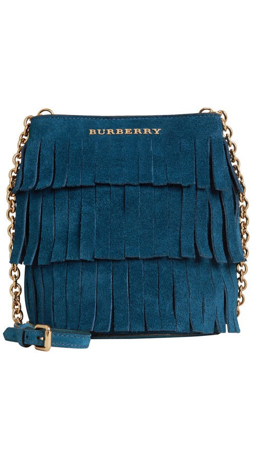 Bolso baby bucket azul de la colección otoño/invierno 2015/2016 de Burberry