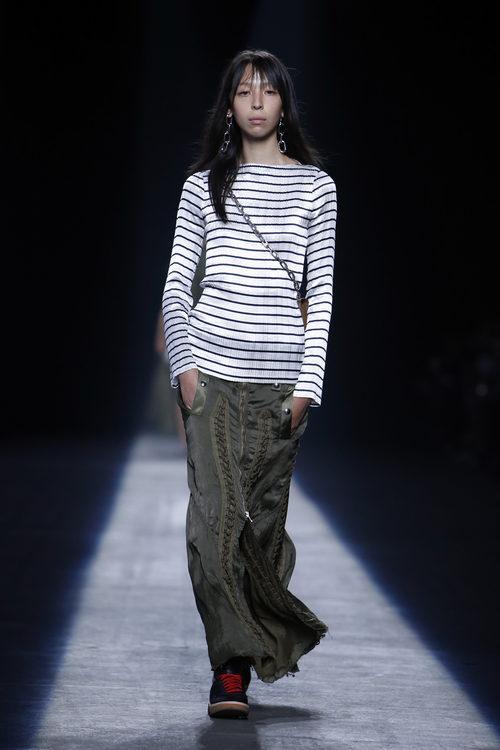 Falda larga casual de la colección primavera/verano 2016 de Alexander Wang en Nueva York Fashion Week