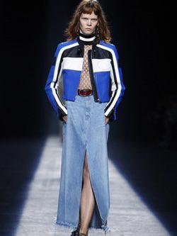 Falda-pantalón vaquero colección primavera/verano 2016 de Alexander Wang en Nueva York Fashion Week