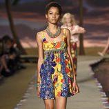 Vestido de estampado floral de la colección primavera/verano 2016 de Tommy HIlfiger en la New York Fashion Week