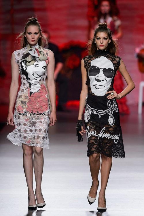 Vestidos blanco y negro de Francis Montesinos para primavera/verano 2016 en Madrid Fashion