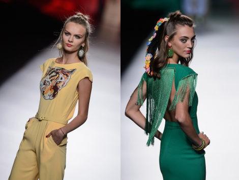 Vestido verde con flecos de Francis Montesinos para primavera/verano 2016 en Madrid Fashion Week