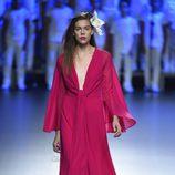 Vestido rosa de Duyos para primavera/verano 2015 en Madrid Fashion Week