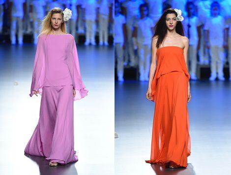 Vestido violeta de Duyos para primavera/verano 2015 en Madrid Fashion Week