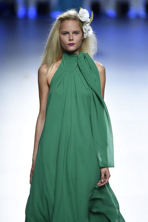 Vestido verde de Duyos para primavera/verano 2015 en Madrid Fashion Week