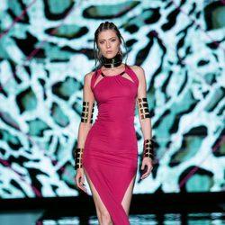 Vestido rosa largo de Andrés Sardá para primavera/verano 2016 en Madrid Fashion Week