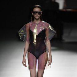 Lencería negra de Ion Fiz para primavera/verano 2016 en Madrid Fashion Week