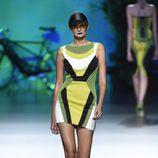 Vestido verde de Maya Hansen primavera/verano 2016 en Madrid Fashion Week