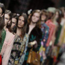 Desfile de la colección de primavera/verano 2016 de Gucci en Milan Fashion Week