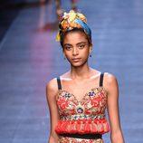 Top y pantalón corto de la colección primavera/verano 2016 de Dolce & Gabbana en Milan Fashion Week