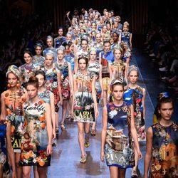 Desfile de la colección de primavera/verano 2016 de Dolce & Gabbana en Milan Fashion Week