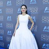 Marion Cotillard con vestido blanco en los premios Annual Critics' Choice Movie 2015