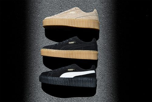 Trío de zapatillas puma beige y negras de la colección 'PUMA BY RIHANNA'