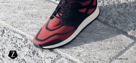 Imagen de calzado granate en la campaña de la nueva colección otoño/invierno de Z Zegna 2015/2016