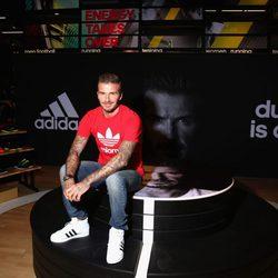 David Beckham presentado la tienda de Adidas en Dubai