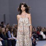 Jumpsuit de estampado floral de la colección primavera/verano 2016 de Chloé en Paris Fashion Week