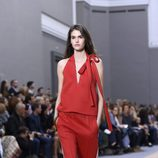 Jumpsuit rojo de la colección primavera/verano 2016 de Chloé en Paris Fashion Week