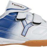 Zapatilla Champions League blanca y azul de la colección otoño/invierno 2011 de Yumas