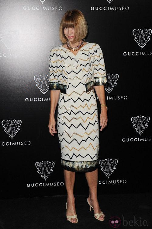 Anna Wintour en la inauguración del Museo Gucci en Florencia