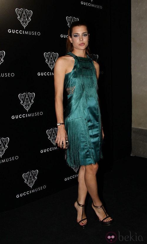 Carlota Casiraghi en la inauguración del Museo Gucci en Florencia